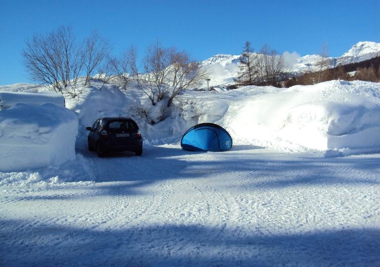 Le camping en hiver
