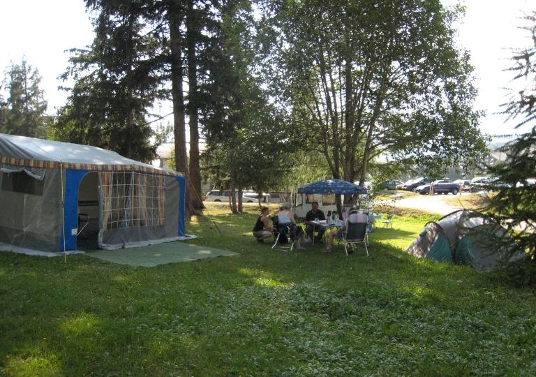 Le camping l'été